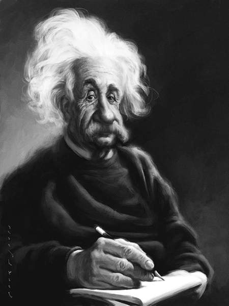 Albert Einstein Painting, by Court Jones